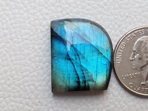 glorious Blue Labradorite Gemstone 25x21x7mm Healing Gemstone Freeform Shape