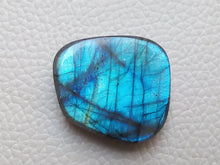 Load image into Gallery viewer, resplendent Blue Labradorite Cabochon  27x24x7mm Healing Gemstone Freeform Shape