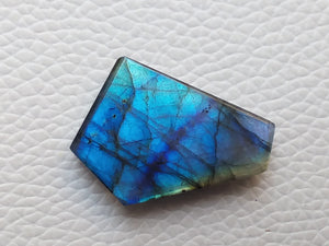 splendid Blue Labradorite Cabochon  27x20x6mm Healing Gemstone Coffin Shape