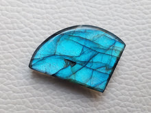 Load image into Gallery viewer, fascinating Blue Labradorite Cabochon  25x19x7mm Healing Gemstone Freeform Shape