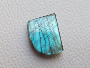 dainty Blue Labradorite Gemstone 21x17x6mm Healing Gemstone Freeform Shape