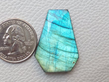 Load image into Gallery viewer, Labradorite Gemstone 34x25x7mm Healing Gemstone Coffin Shape