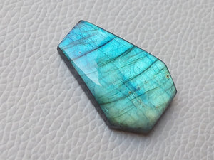 Labradorite Gemstone 34x25x7mm Healing Gemstone Coffin Shape