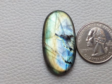Load image into Gallery viewer, statuesque Flashy Labradorite  36x19x6mm Healing Gemstone Oval Shape