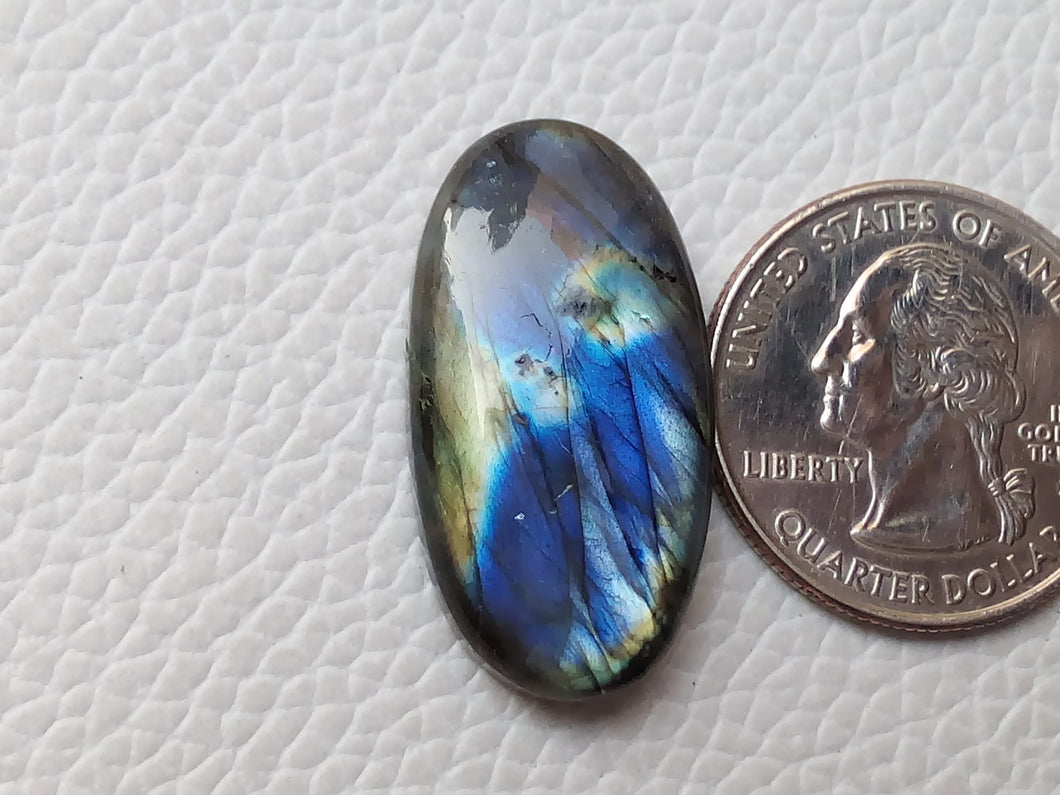 statuesque Dual Shaded Labradorite  30x15x6mm Healing Gemstone Oval Shape