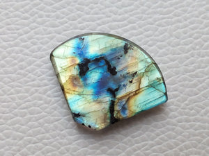 radiant Multi Shaded Labradorite  31x24x6mm Healing Gemstone Freeform Shape
