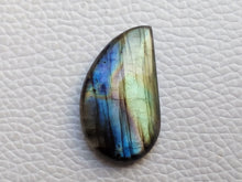 Load image into Gallery viewer, 29x17x6mm   Labradorite Gemstone Cabochon Freeform Shape