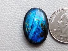 Load image into Gallery viewer, cunning Blue Labradorite Gemstone 26x17x7mm Healing Gemstone Oval Shape