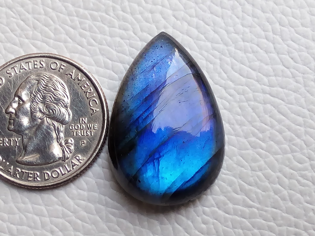 magnificent Blue Labradorite Gemstone 30x20x8mm Healing Gemstone teardrop Shape