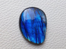 Load image into Gallery viewer, glorious Blue Labradorite Cabochon  29x22x6mm Healing Gemstone Freeform Shape