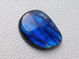 glorious Blue Labradorite Cabochon  29x22x6mm Healing Gemstone Freeform Shape