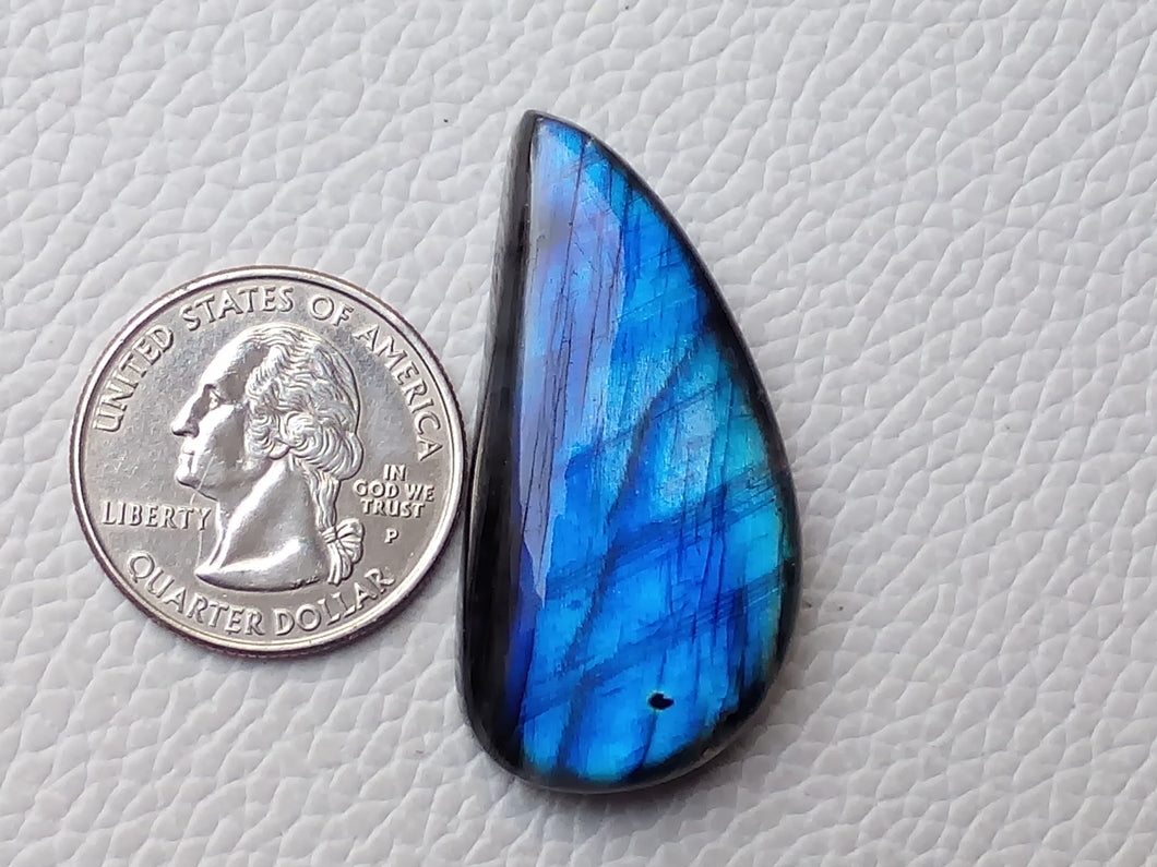 appealing Blue Labradorite Cabochon  42x21x8mm Healing Gemstone Freeform Shape