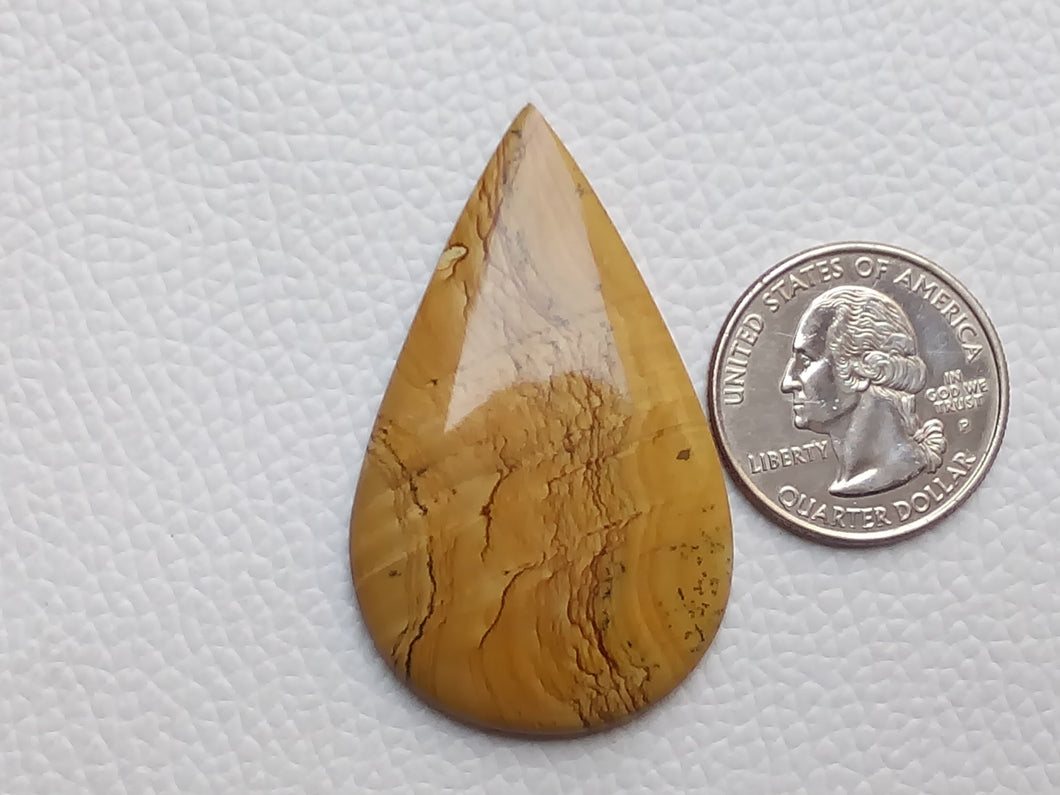 49x30x5 mm Owyhee Jasper Teardrop Shape