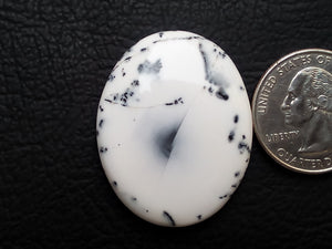 37x29x6 mm Dendritic Agate Oval Shape