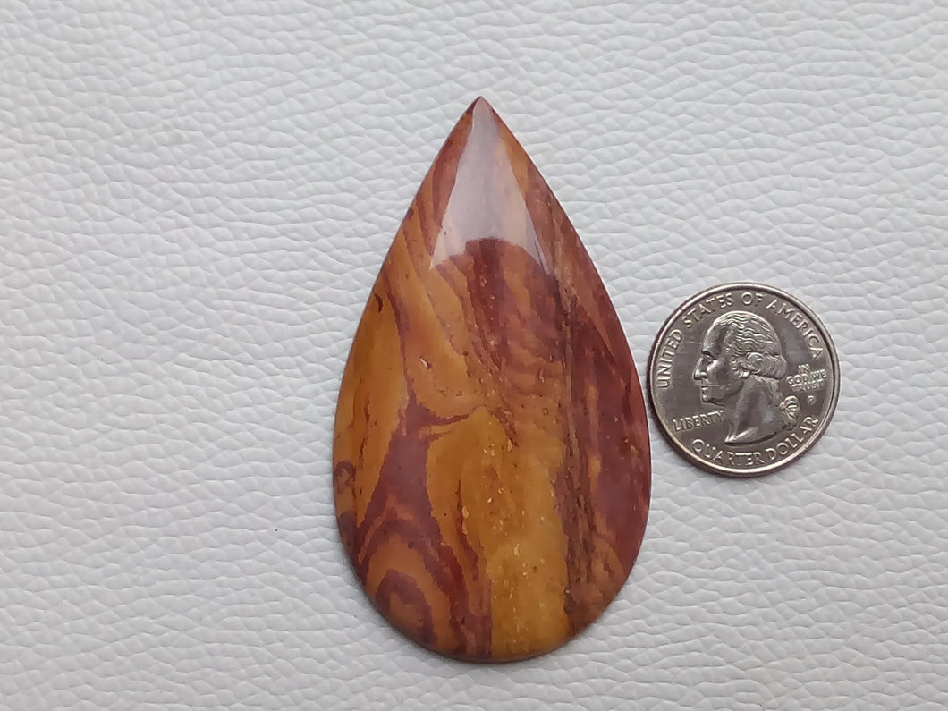69x40x6 mm Mookaite Teardrop Shape