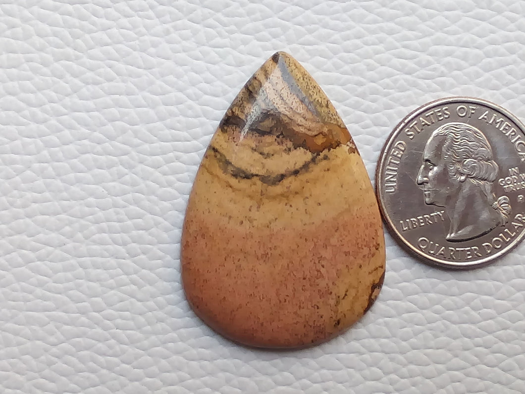41x29x4 mm Picture Jasper Teardrop Shape