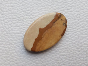 33x20x5 mm Picture Jasper Oval Shape