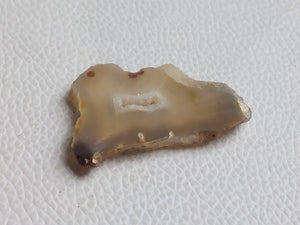 44x27x5 mm Geode Agate Slice Freeform Shape
