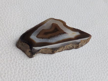 Load image into Gallery viewer, 53x29x6 mm Geode Agate Slice Freeform Shape