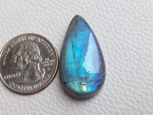 Load image into Gallery viewer, 32x17x8mm   Labradorite Gemstone Cabochon teardrop Shape