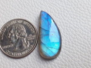 29x14x6mm   Labradorite Gemstone Cabochon Freeform Shape