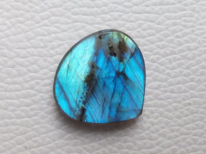 24x23x6mm   Labradorite Gemstone Cabochon Heart Shape