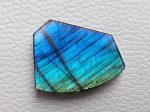 30x24x6mm   Labradorite Gemstone Cabochon Freeform Shape