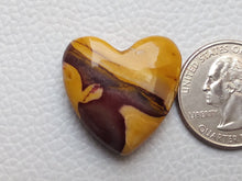 Load image into Gallery viewer, 25x25x9 mm Mookaite Jasper Briolette Heart Shape