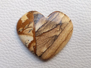 35x31x5 mm Picture Jasper Heart Shape