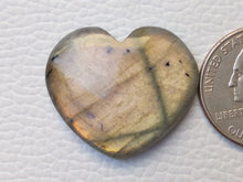 Load image into Gallery viewer, 30x26x6mm   Labradorite Gemstone Cabochon Heart Shape