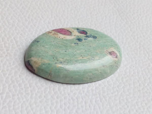 41x28x7 mm Ruby Fuchsite Oval Shape