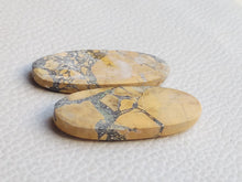 Load image into Gallery viewer, 38x15x4 mm Brecciated Mookaite Pair Oval Shape
