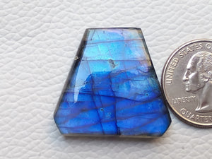 31x29x6mm   Labradorite Gemstone Cabochon Freeform Shape