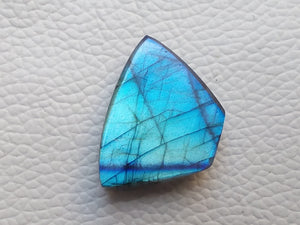 27x20x8mm   Labradorite Gemstone Cabochon Freeform Shape