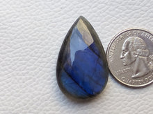 Load image into Gallery viewer, 33x21x8mm   Labradorite Gemstone Cabochon teardrop Sahpe