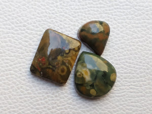 3 Pcs  Fruit Jasper Mix Shape