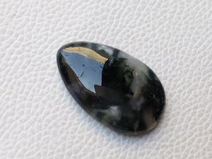 35x21x7 mm Natural Moss Agate Teardrop Shape