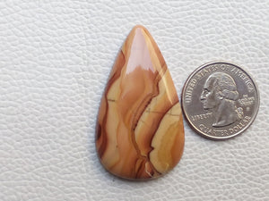 46x27x6 mm Natural Wave Dolomite Teardrop Shape