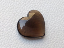 Load image into Gallery viewer, 24x22x7 mm  Natural Smoky Quartz Briolette Heart Shape