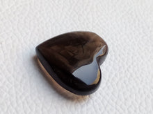 Load image into Gallery viewer, 24x22x9 mm  Natural Smoky Quartz Briolette Heart Shape