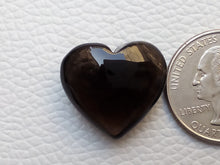 Load image into Gallery viewer, 22x20x10 mm  Natural Smoky Quartz Briolette Heart Shape