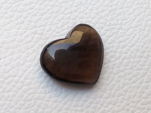 Load image into Gallery viewer, 21x18x8 mm  Natural Smoky Quartz Briolette Heart Shape