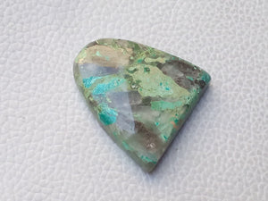 31x30x7 mm Natural Chrysocolla freeform Shape