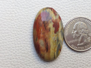 36x21x6 mm Rainbow Jasper Oval Shape