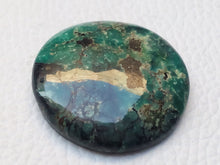 Load image into Gallery viewer, 29x19x6 mm Natural Tibetan Turquoise Round Shape