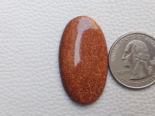 Load image into Gallery viewer, 37x21x5 mm Goldstone Oval Shape