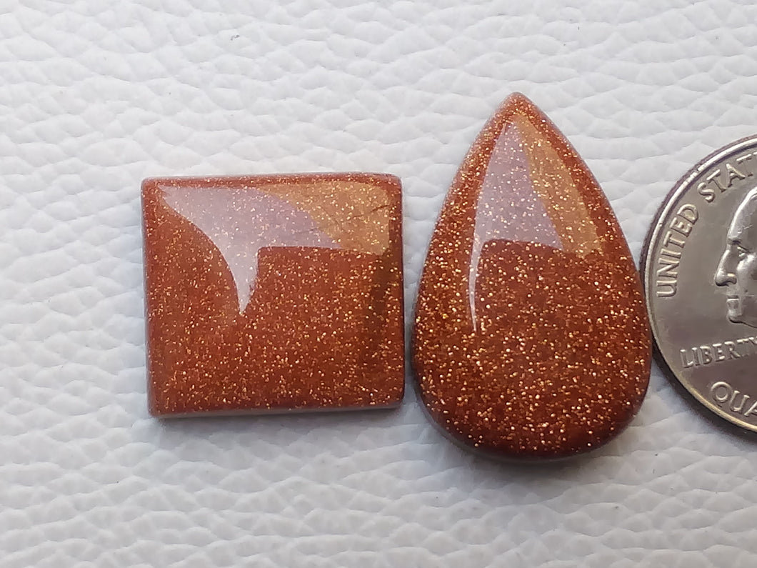 2 Pcs Goldstone Mix Shape