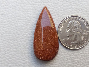 38x18x7 mm Goldstone Teardrop Shape