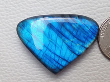 Load image into Gallery viewer, 40x29x8mm, AAA Blue Labradorite Gemstone Cabochon Heart Shape