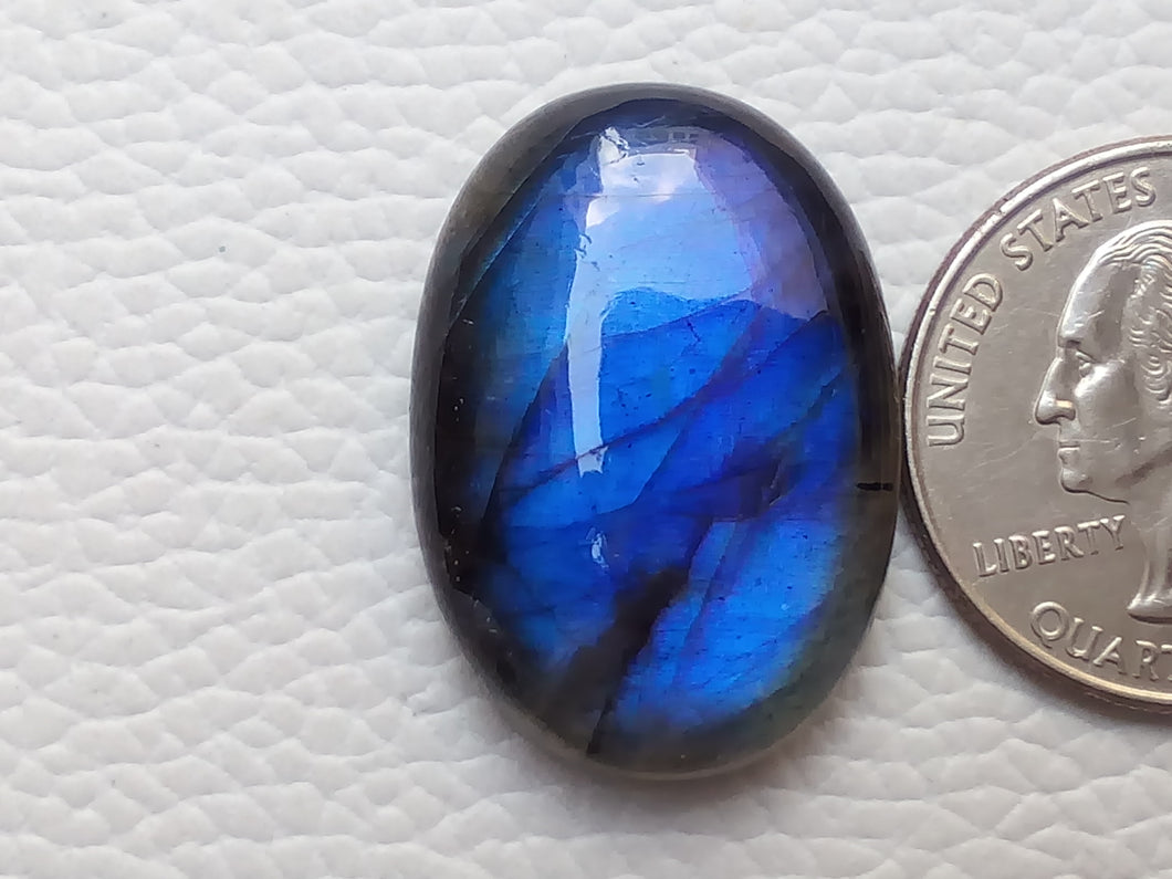 28x20x8mm,  Blue Labradorite Gemstone Cabochon Oval Shape